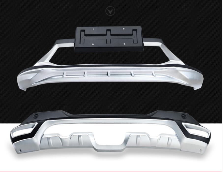 ABS Chrome avant + arrière pare-chocs protecteur garde plaque de protection pour Nissan Qashqai 2016 2017 2018