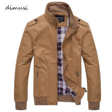 DIMUSI Mens Jackets Spring Autumn Casual Coats Solid Color Sportswear Stand Collar Slim Male Bomber 4XL