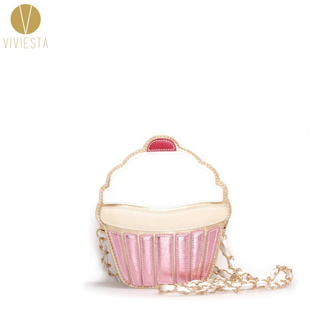 CUPCAKE novedad bolso bandolera para mujer niñas juguetón raro lindo dulce moda Mini cadena pequeña a través del bolso