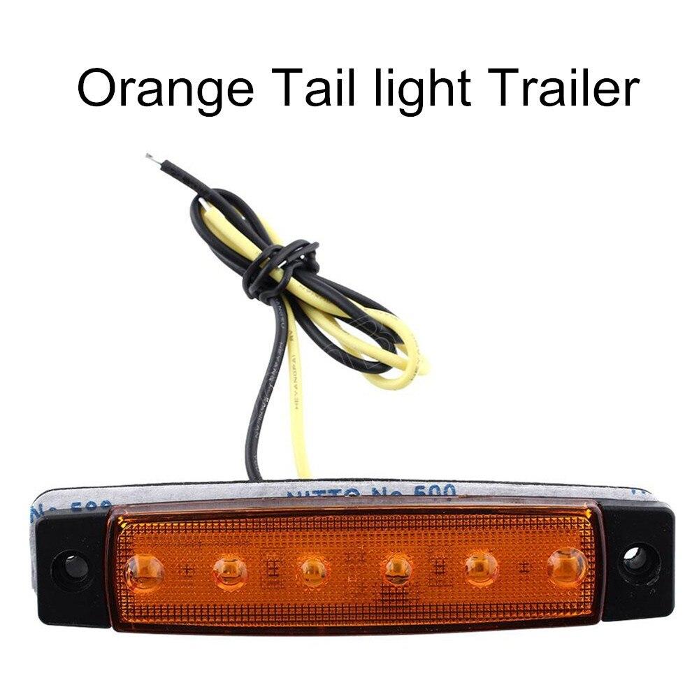 Новое поступление 10 шт. 6 светодиодных автомобилей Грузовик Прицепы боковой маркер индикаторы свет лампы 24 В Amber Orange Лидер продаж