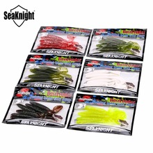 SeaKnight Soft Lure SL014 7g 127mm 13cm 5″ 6Pcs Fake Lure Silicone Lure Single Long Tail Worm Saltwater/Freshwater Fishing Baits