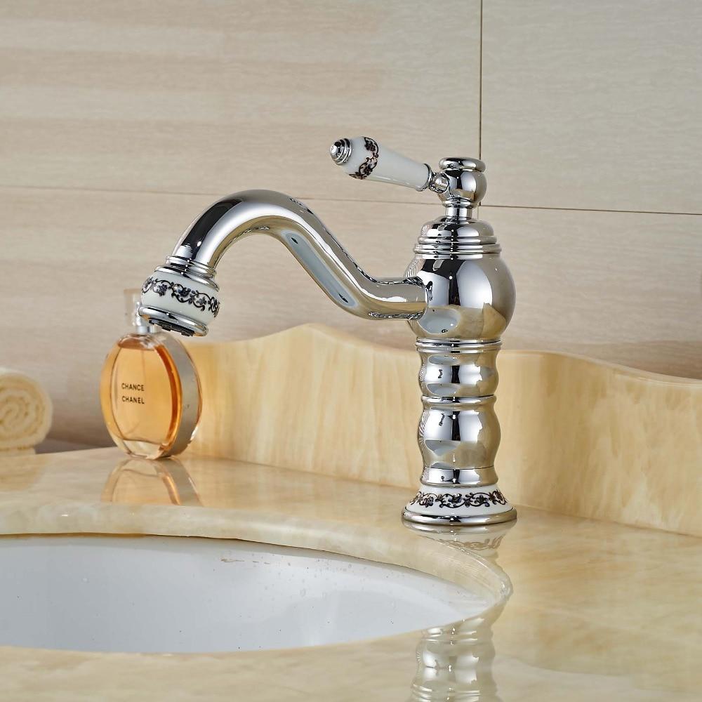 Ceramic Single Handle Bathroom Vanity Sink Mixer Tap Chrome Finished ceramic single handle bathroom vanity sink mixer tap chrome finished