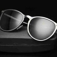 2017 brand designer Retro sunglasses Aluminum magnesium Polarized sunglasses Driving Goggle mirror luxury men sunglasses UV400