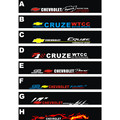 Free shipping Automobile label car Racing stickers for Chevrolet Cruze Front windshield stickers for front window