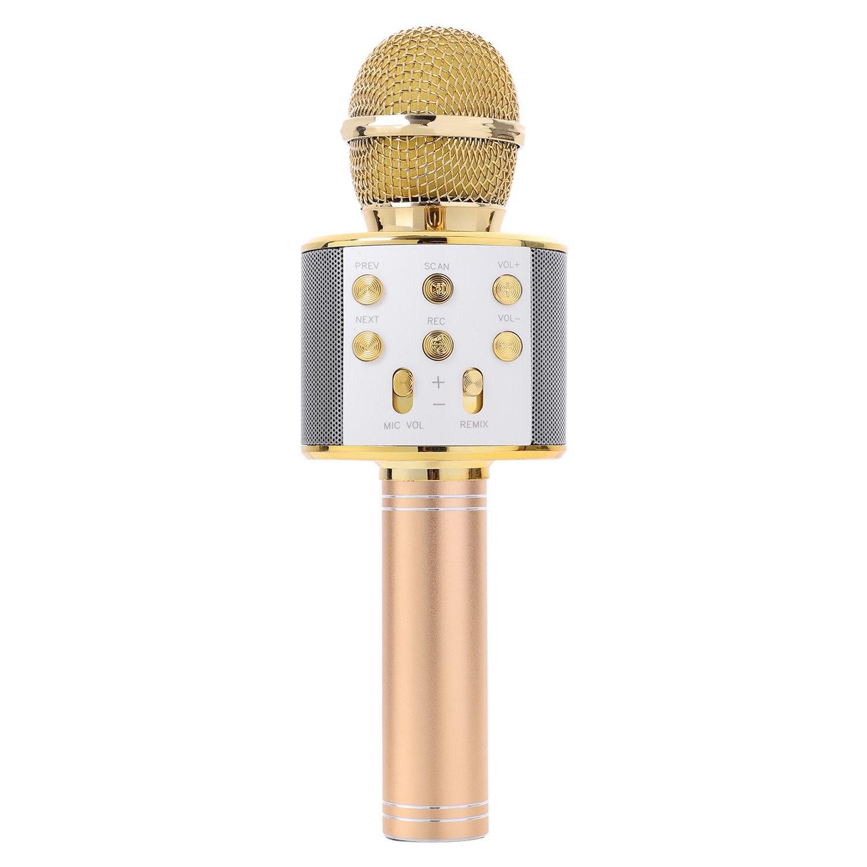 цена на Wireless Karaoke Microphone Portable Bluetooth Mini Home KTV for Music Playing Singing Speaker Player