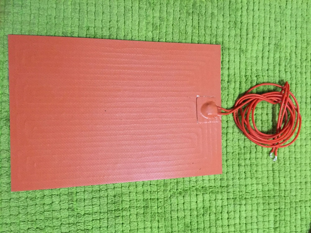 ФОТО 24 v 300 w gomma di silicone riscaldatore bed 300mm x 300mm per stampante 3d con termistore  3m nastro silicone heated bed