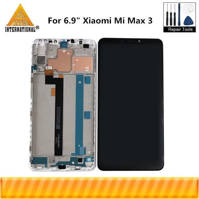 """Orijinal Axisinternational 6.9 """"Xiao mi Max 3 mi Max 3 LCD ekran ekran + dokunmatik panel sayısallaştırıcı için çerçeve ile mi Max3 mi MAX3"""