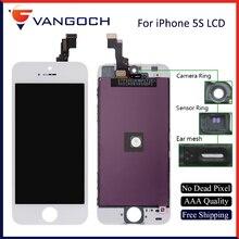 Ограниченное предложение 10 шт. + + + Одежда высшего качества ЖК-дисплей Замена для iPhone 5S Сенсорный экран Дисплей планшета Ассамблеи с подарок Бесплатная DHL доставка