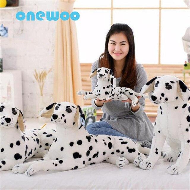 Wolf Stuffed Animal Plush Toy Dalmatian Dog Pillow Simulation Dalmatian Stuffed Animal Dog Soft Toy Doggy Decoration Gifts