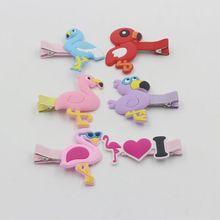 NEW 2PCS Plastic flamingo hairpin childrens cartoon popular jewelry