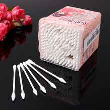 T2N2 200X Double Disposable Cotton Swabs Buds Stick Tips Eyelash Extension Makeup Cleaning Ear  Jewelry Clean Tools