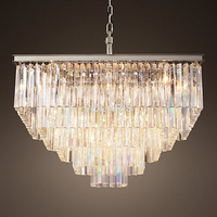 Free Shipping Luxury Country Vintage Square Chandelier Crystal Pendant Hanging Light Ceiling Chandeliers Lamp for Home Decor
