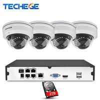 Techege 4CH NVR 48V POE 1080P CCTV System Onvif P2P 2 0MP HD Network H 264