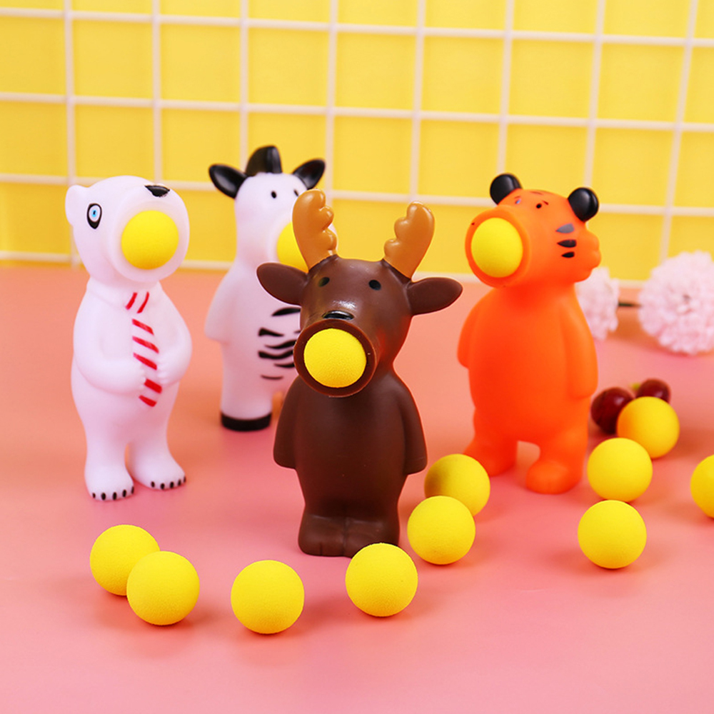 Children Funny Squeeze Kids Toys Creative Dolls Stress Relief Spit Balls Animal Shooting Toys Children Amused Squeeze Toy