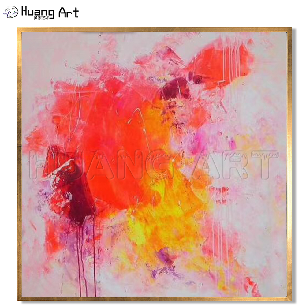 Us 38 95 50 Off Factory Direct Sale Bright Colors Abstract Oil Painting On Canvas For Room Wall Decor Hand Painted Modern Pink Abstract Painting In