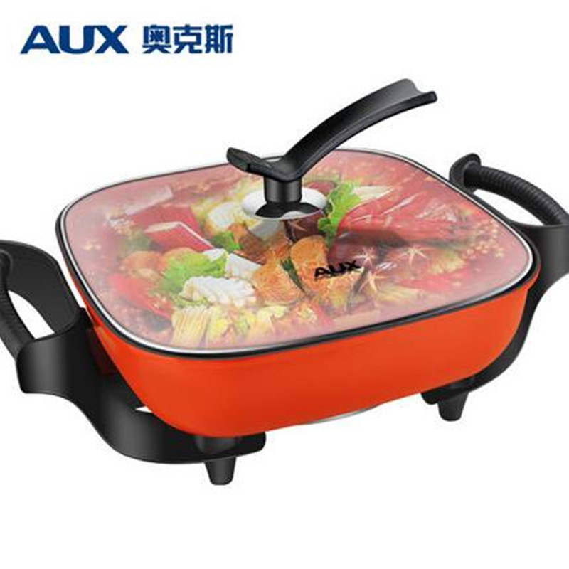 цена 220V AUX Household Multifunctional Korean Electric Frying Pot Pan 5L Non-stick Hot Pot Multi Cooker Frying Oven