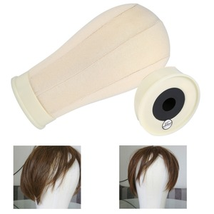 Image 2 - 20/21/22/23/24/25inch Beige Training Head Manikin Model Cotton Fabrics Wig Stand Displaying Make Styling Practice Mannequin Head