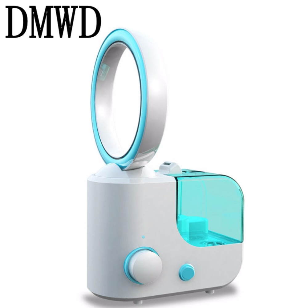 DMWD Ultrasonic  Air Humidifier Aroma Essential Oil Diffuser Exhausted fan electric fans 110V 240V  Aromatherapy  fogger hot sale humidifier aromatherapy essential oil 100 240v 100ml water capacity 20 30 square meters ultrasonic 12w 13 13 9 5cm