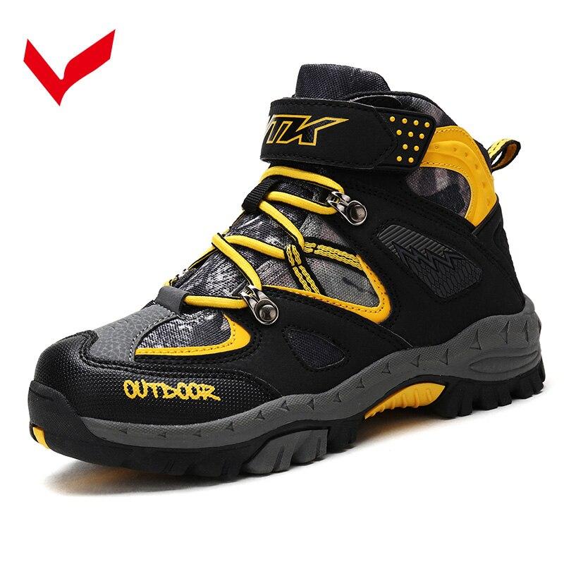 Wandern Schuhe Kinder Winter Schuhe Jungen Mädchen Kinder Trekking Stiefel Klettern Outdoor Sports Turnschuhe Anti-slip Cn Größe 31 -41 Novel (In) Design;