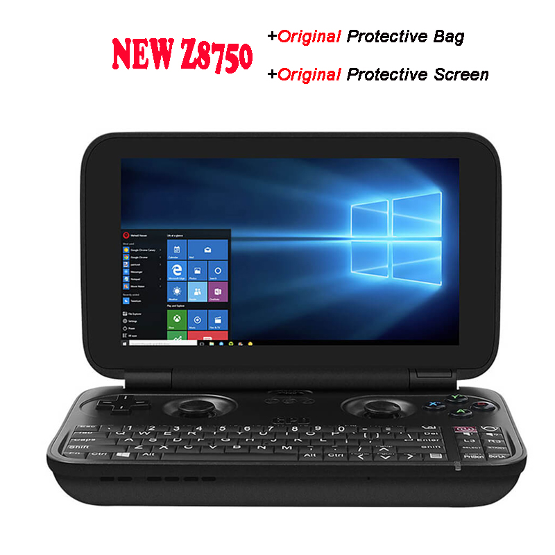 Original GPD Win Gamepad Laptop NoteBook Tablet PC Handheld Game Console X7 Z8750 Windows Bluetooth 4GB/64GB Gamepad Game Player coolboy x6 handheld game console black