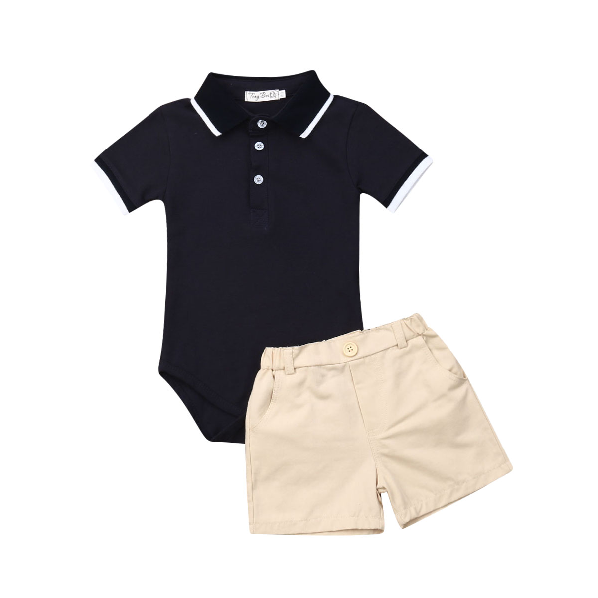 Mini Shatsu Baby Boys Urban Sneaker Head Button Down Infant Shirt
