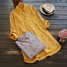 2019 Time-limited Tumblr Unicorn Kpop Women Free Shipping Large Size Spring Fresh Japanese Style Cotton And Linen Shirts Tops(China)