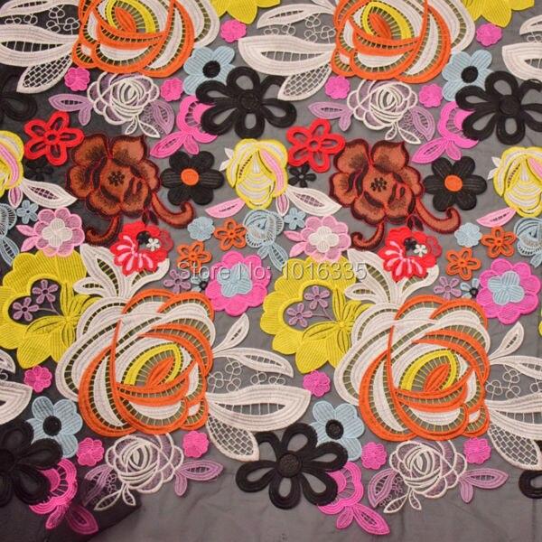 5 yards120CM largeur multicolore Top dentelle tissu Tulle français dentelle tissu pour robe de mode