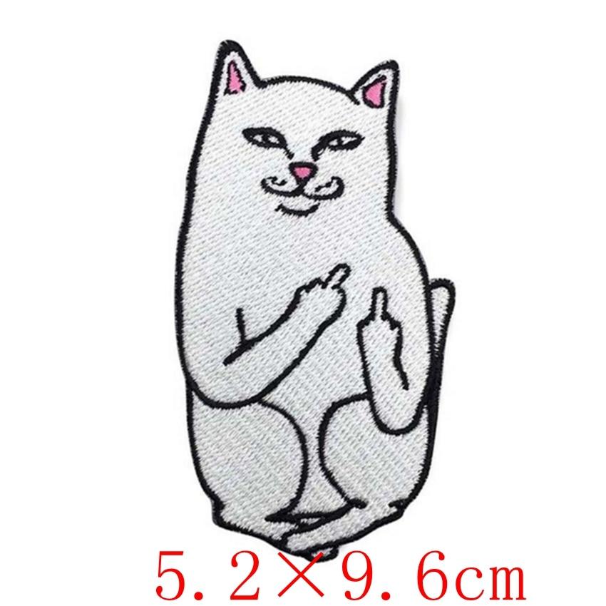 2018 parches para ropa para gato medio dedo Applique hierro en coser ...
