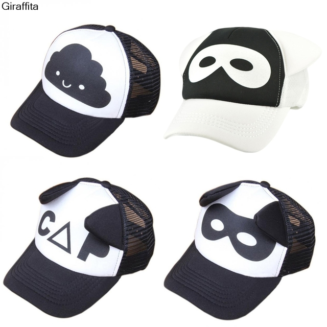 3e3734d214c Giraffita Kid Letter Cloud Mask Print Cap Spring Summer Baby Boys Girls  Baseball Caps Casual Adjustable Hip-hop Snapback Sun Hat