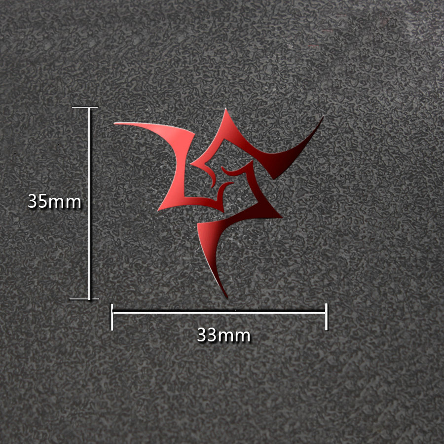 Fate Zero Fate Stay Night Anime 3D Metal Stickers Luxury Phone Laptop Sticker Fridge Car Decal DIY Toy Stickers Gift