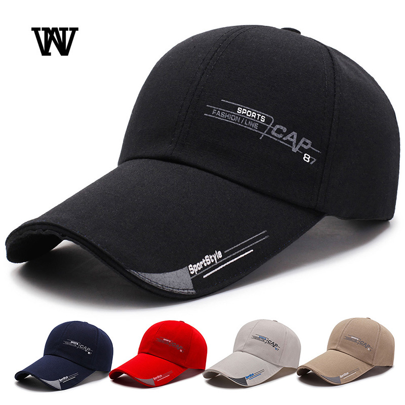 11aa381e 2019 Summer Baseball Cap Men Women 100% Cotton Breathable Sport Trucker Male  Cap Black Snapback