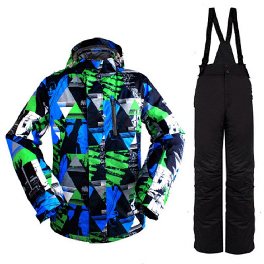 2018 hiver neige veste hommes Ski costume M-XXXL femme neige veste et pantalon coupe-vent imperméable coloré vêtements Snowboard ensembles