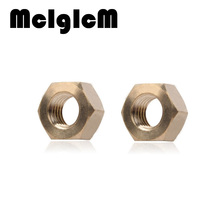 H053 50Pcs DIN934 M1.6 M2 M2.5 M3 M4 M5 M6 M8 M10 H62 Copper Hexagonal Brass Hex Nuts Hexagon Nut HW048