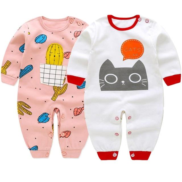 Spring Autumn 2018 children Bodysuits fashion long sleeve baby Girls Jumpsuit kids clothing cotton 2pcs/set Baby Accessories