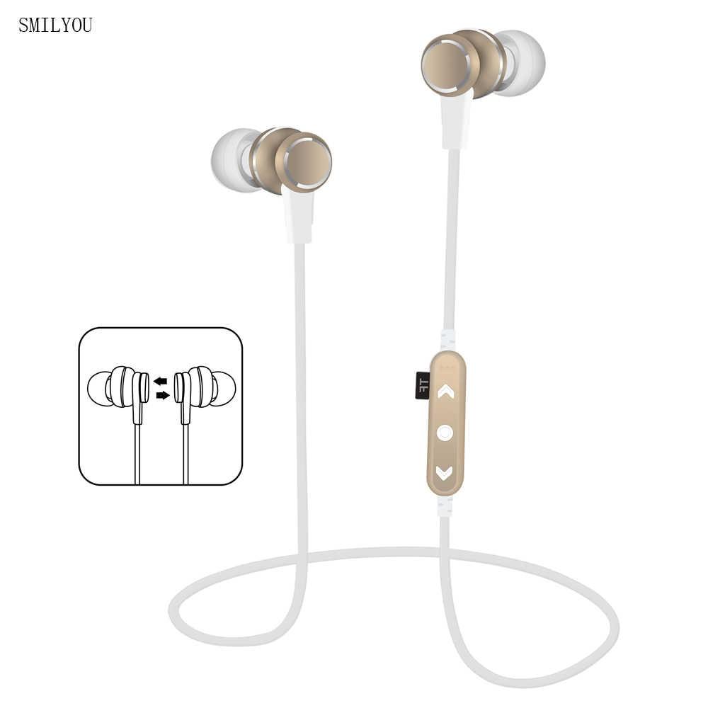 Smilyou T12 Bluetooth наушники Беспроводной Спортивные наушники Bluetooth  магнит наушники для iPhone Xiaomi Samsung смартфонов da6b606e38546