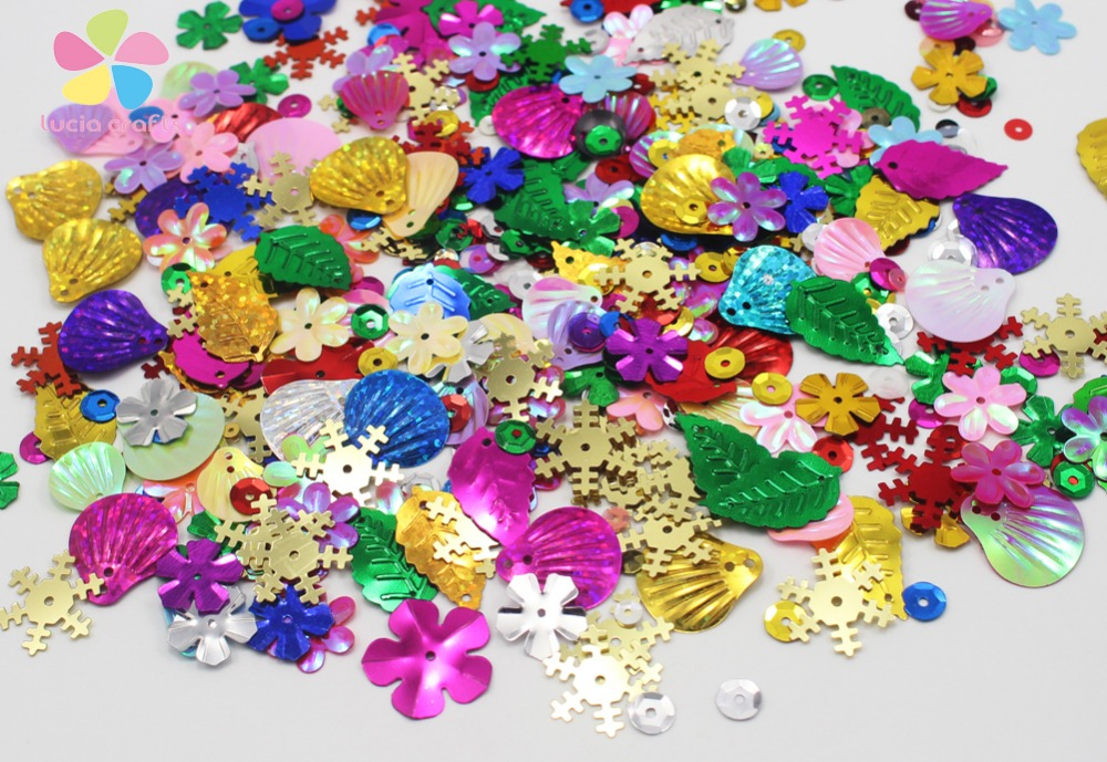 Lucia Craft 20g/bag mixed color Rainbow <font><b>Cup</b></font> <font><b>Sequin</b></font> confetti D24010007(7-50HS20g)