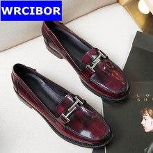 FLAT Oxford Shoes Woman Autumn Flats 2017 Fashion Brogue Oxford Women Shoes moccasins sapatos femininos sapatilhas zapatos mujer