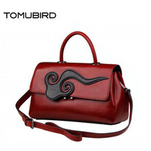 TOMUBIRD Superior cowhide luxury handbags women bags  famous brand women bag genuine leather handbags shoulder bag tomubird 2017 new superior leather retro embossed designer famous brand women bag genuine leather tote handbags shoulder bag