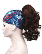 יופי חזקות Piece הארכת שיער סינטטי בינוני ארוך טופר קליפ ב/על 12 inches פאה מתולתל קוקו 43 צבעים