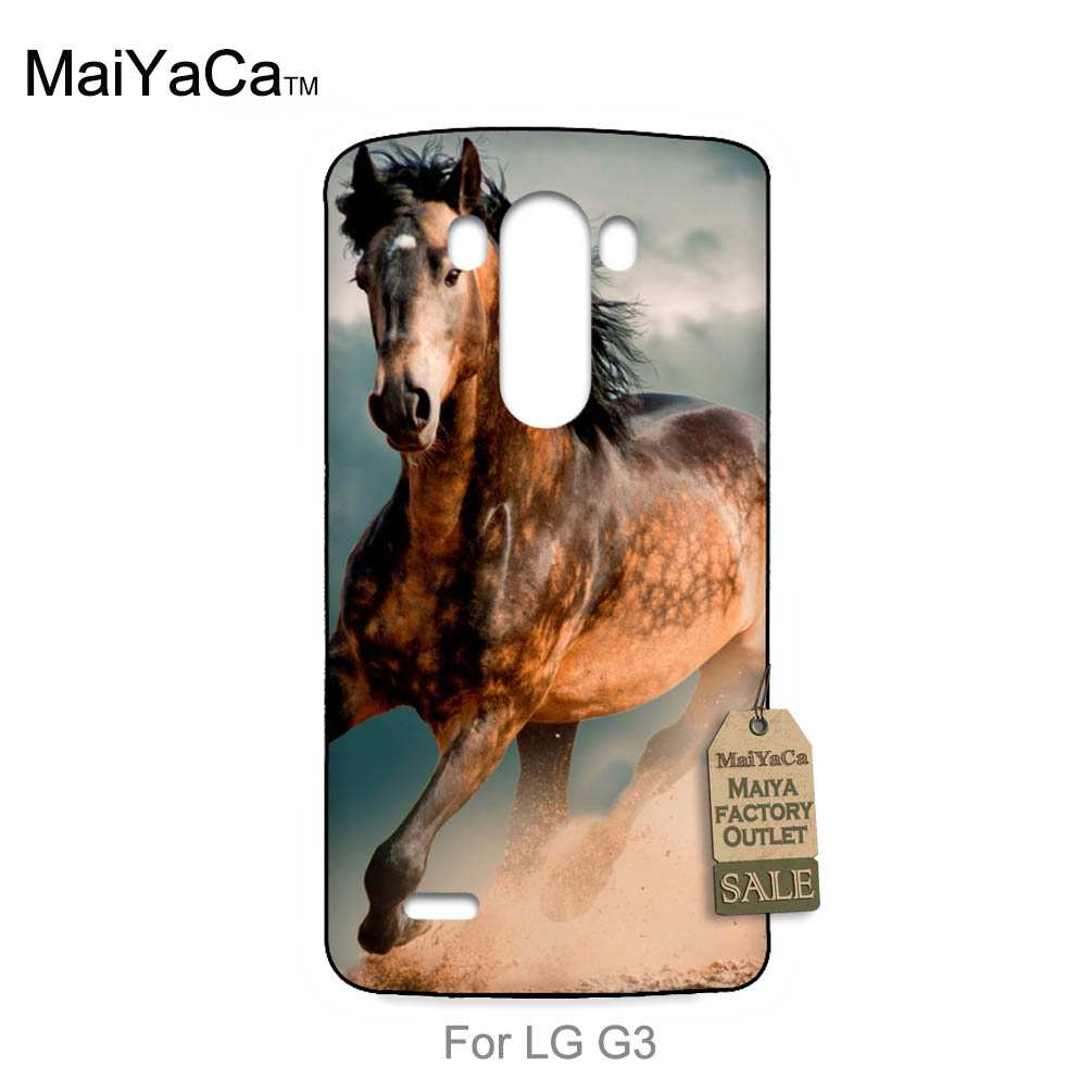 No.9 Mobile Phone Accessories Store 2016 New Luxury fashion cell phone case  For case LG G3  horse racing horse animal
