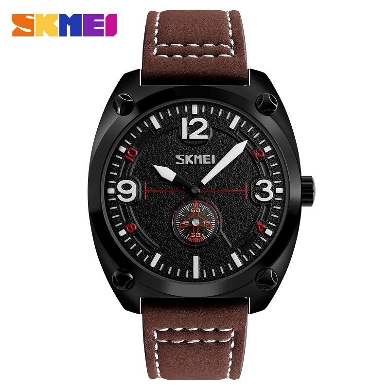 SKMEI Men Wristwatch Business-Watches Waterproof Fashion Luxury Top Strap Hombre Reloj