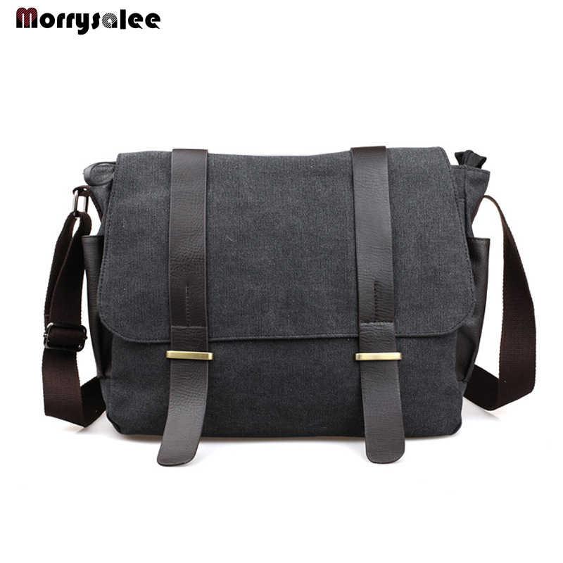 0e70c33bb3f9 Мужская сумка через плечо мужская дорожная сумка-мессенджер сумка для студента  Мужская Холщовая Сумка