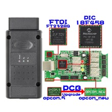 DJSona 2018 OP COM For Opel V1.70 OBD2 OP-COM Car Diagnostic Scanner Real PIC18f458 OPCOM Tool Flash Fir
