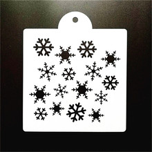 15*15cm DIY Craft Snowflake Design Stencil Template For Wall Painting Scrapbooking Stamping Photo Album Decor Embossing Cards