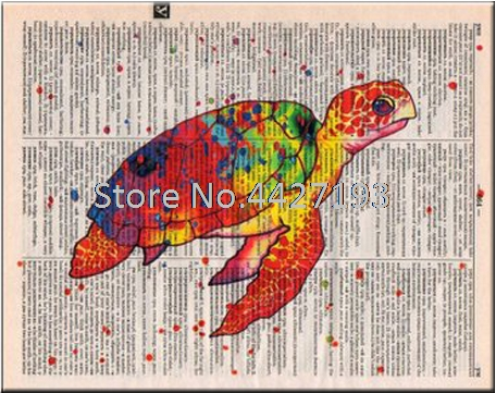 5D Diamond Painting Sea turtle Diamond Mosaic Animals Book Page Diamond Embroidery Cross Stitch Home Decoration Art Gifts in Diamond Painting Cross Stitch from Home Garden