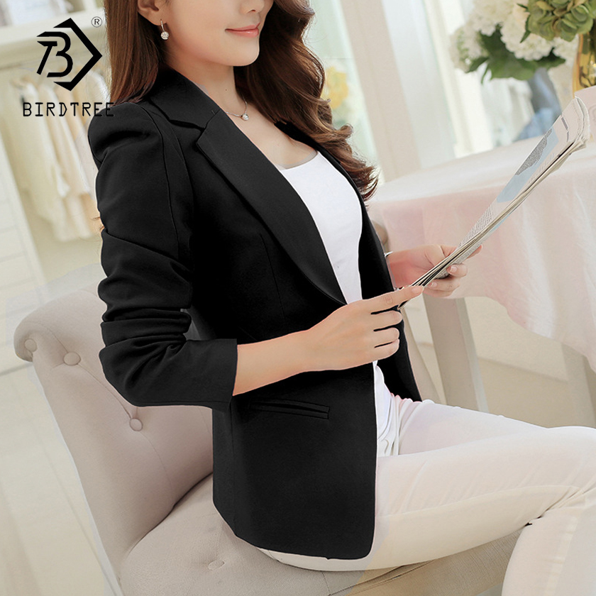 2018 New Fashion   Basic     Jacket   Women Candy Color Suit Ladies Spring Plus Size Brand Coats Casual female C81112L