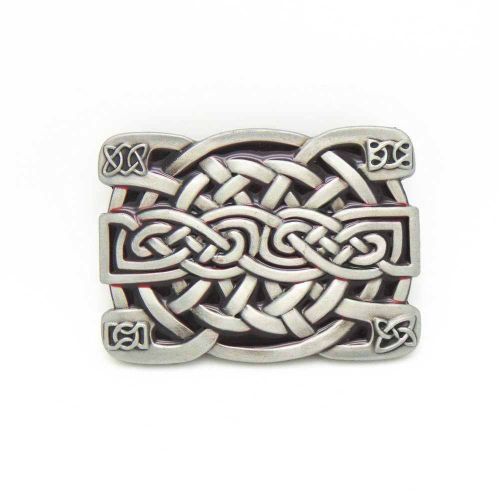 Petwer Finish Keltic Knot Belt Buckle Western Mens' Buckle With High  Quality In Good Plating