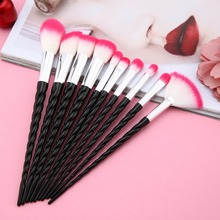 US $4.5 6% OFF|10pcs Unicorn Makeup Brush Set Foundation Blending Powder Eye shadow Make Up Brushes Red Black Cosmetic Beauty Make Up Tools-in Eye Shadow Applicator from Beauty & Health on Aliexpress.com | Alibaba Group