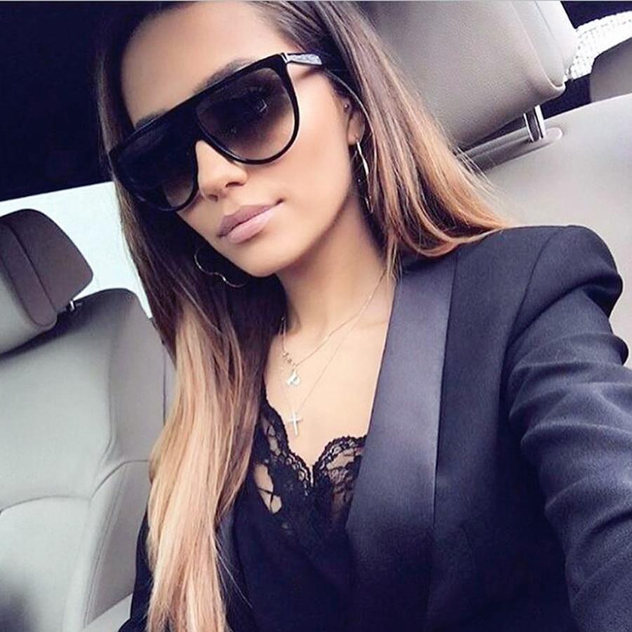 MOLGIRL 2017 New Fashion Sunglasses Women Flat Top Style