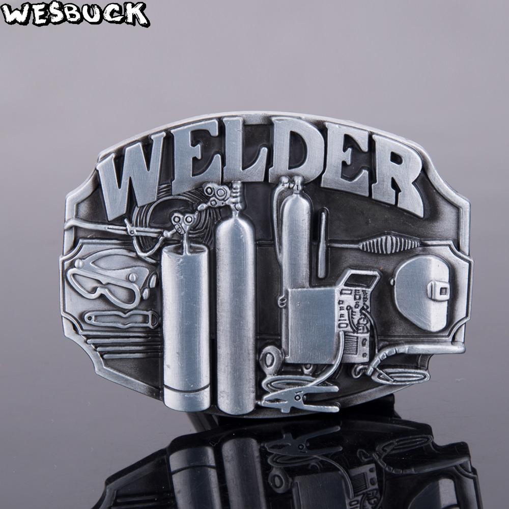 Hebilla de cinturón de metal para soldador unisex
